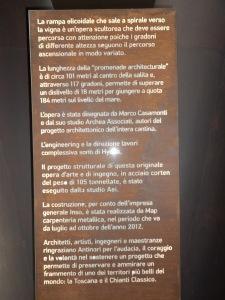 didascalia scala a chiocciola presso Antinori Bargino (FI)