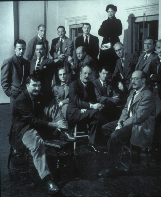 New York School; Peggy Guggenheim with Jackson Pollock, Mark Rothko, Franz Kline and  William Baziotes Robert Motherwell Sterne  Theodoros Stamos, and others