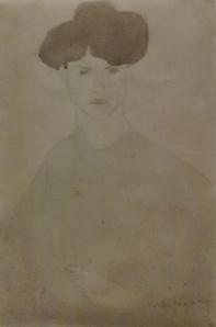 Un disegno di Modigliani non tra i più riusciti/convincenti