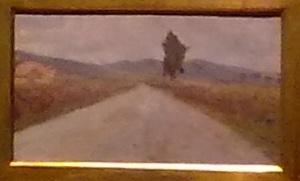 Amedeo Modigliani,'bozzetto toscano' da Macchiaiolo.Opera giovanile; d'esordio