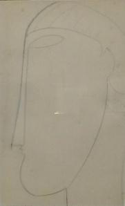 Amedeo Modigliani,profilo greco.Disegno su carta
