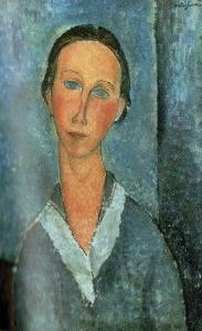Amedeo Modigliani; occhi ormai azzurri e celesti nel loro desiderio...