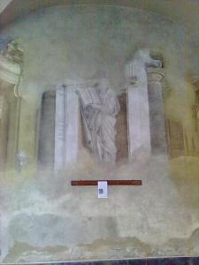 Chiesa di san Matteo,adiacente all'omonimo Museo.Affresco laterale destro.Pisa