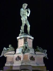 david di michelangelo bronzeo,copia presso piazzale michelangelo,firenze2