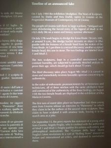 History of 'false Modigliani', in English
