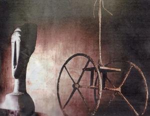 New York,novembre 2014, by Sotheby's ; testa di Amedeo Modigliani e carro (chariot) bronzeo di Alberto Giacometti.