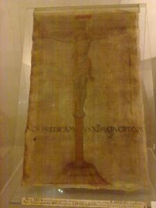 Stendardo processionario con cui Girolamo Savonarola, Priore di san Marco, andava in processione