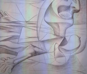 Pablo Picasso, la nuotarice, carboncillo sobre lienzo.Palazzo Strozzi 2014-2015