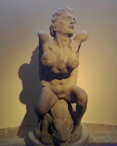 'Palazzo Blu' di Pisa,originalissima scultura presso l'androne.Di Niccolò Pericoli,detto il Tribolo.Su disegno di Michelangelo Buonarroti.