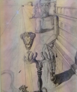 Salvador Dalì;boceto de el hombre invisible.Palazzo Strozzi 2014-2015