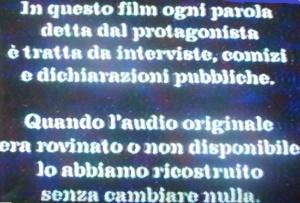 incipit del film :' :' Silvio forever'
