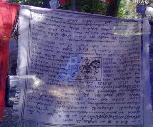 bandierina lama con scritte in sanscrito,presso pomaia (Pisa)