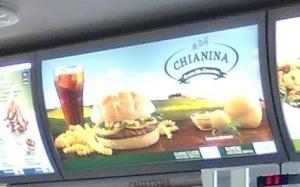"""Hamburger di chianina  by McDonald's ; della serie """"Grandi Carni Italiane"""" (?!)"""