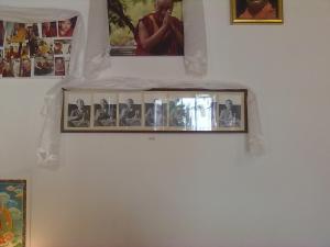 in basso le fotografie in bianco e nero del  lama thubten yeshe fondatore dell'istituto lama di pomaia(pisa)