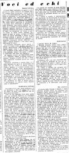 l'osservatore romano; voci ed echi 24,febbraio,1960
