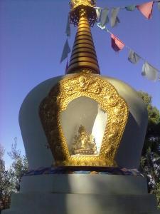 stupa,particolare del reliquiario