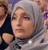 Maria Giulia Sergio, alias Fatima,  qualche anno fa quando sosteneva in Italia le scelte islamiche.