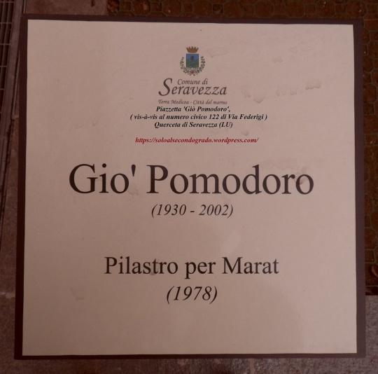 Giò Pomodoro. Pilastro per Marat.
