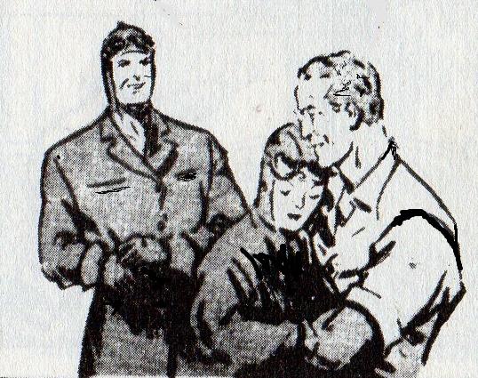 E alla fine il personaggio di Clarence Gray -Brick Bradford- riconduce la sua amata dal papà così a ricomporre la famiglia -quella di provenienza e quella di formazione- nella sua pienezza...