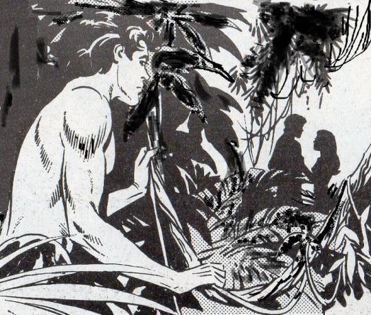 Il figlio di Tarzan... Korak - 'killer', per gli indigeni - qui in veste di un 'giovanotto sentimentale'  un pò  voyeur ed un pò deluso dalla 'bella' di turno .