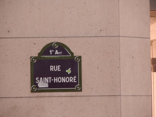 Perché  rue  S. Honorè ? Guardate la fotografia successiva...