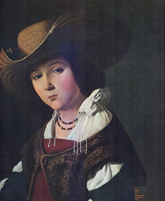 Santa Margarita ;tela/ lienzo de Francisco de Zurbarán. L'indiscrezione nello sguardo di chi osserva;ecco il vero soggetto dell'Opera.