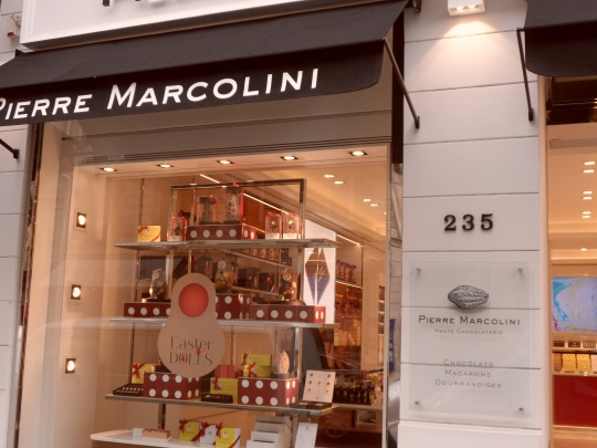 Pierre Marcolini rue Saint Honoré Paris come sopra
