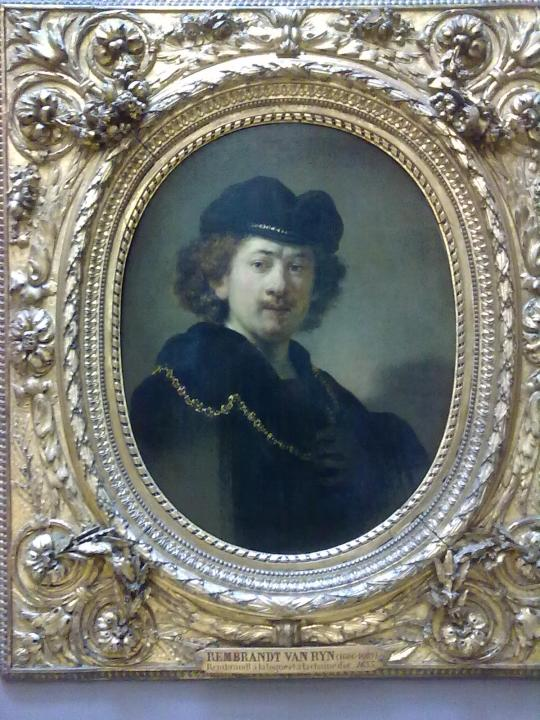 Un autoritratto di Rembrandt ; uno dei tanti da lui eseguiti