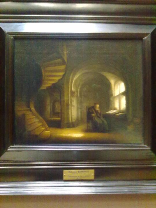 Un pensatore secondo un pittore coetaneo e connazionale di  Rembrandt, Salomon Koninck