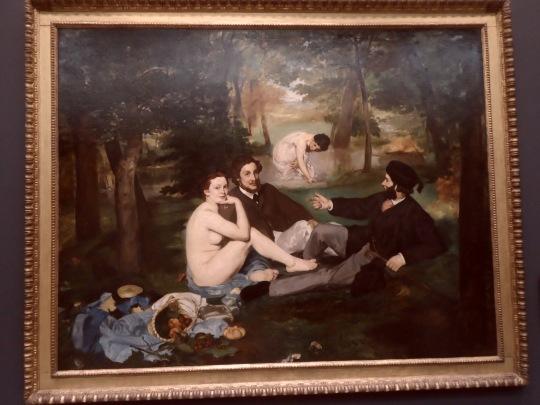Édouard Manet le déjeuner sur l'herbe  La colazione sull'erba Musée d'Orsay Parigi.