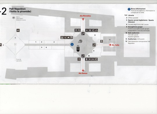 map of the Louvre museum 2