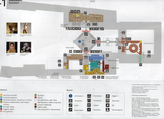 map of the Louvre museum 3