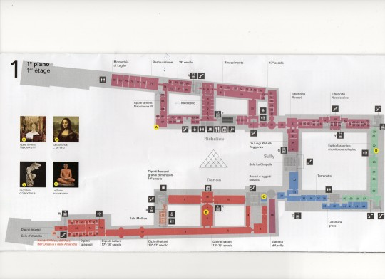 map of the Louvre museum 5