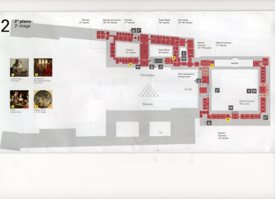 map of the Louvre museum 6