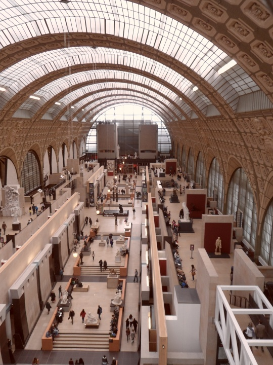 Museo d'Orsay  sala piano terra vista dall'alto