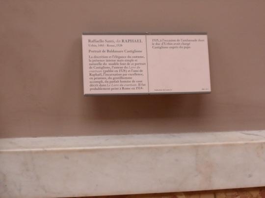 Uno straordinario Raffaello (Sanzio) con il Suo ritratto di Baldassarre Castiglione;  fortunato e onorato 'Messere' nella vita come nella onorata morte in odore di santità . Vedi le quattro seguenti fotografie.