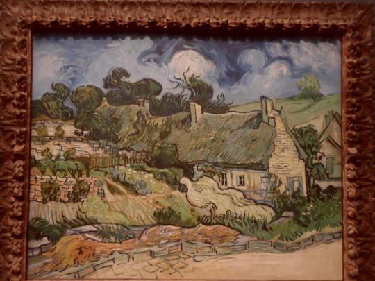 Quest'Opera di Van Gogh merita una particolare attenzione; la matericità dei colori con cui viene costruito un paesaggio della mente e dell'interiorità ricorda molto il lavoro parallelo svolto da Paul Cezanne