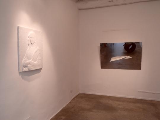 Visione d'insieme della seconda sala espositiva