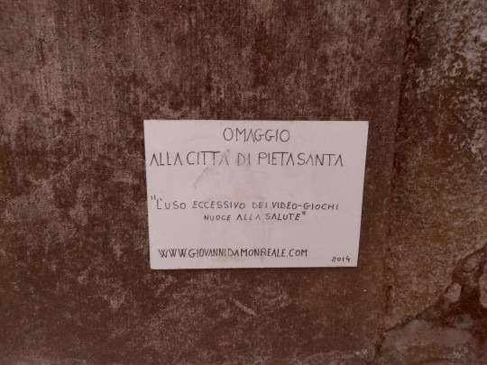 omaggio alla città di Pietrasanta di Monreale. Giovanni da Monreale
