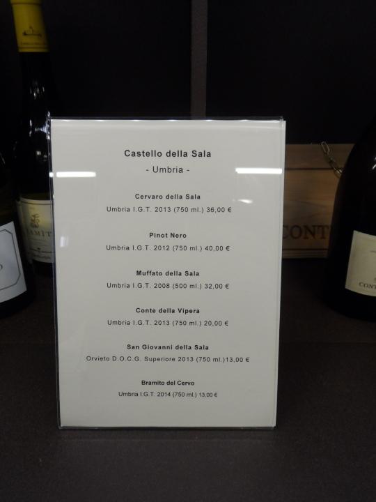 Cervaro della Sala ma... 2013 Se chiedete il 2012 - scelto dal campione mondiale dei sommelier , Luca Gardini , tra i primi 100 vini migliori del mondo ecco che il prezzo sale a ben 55 euro..!