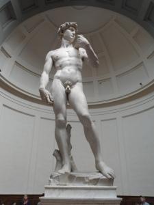 David di Michelangelo, marmo di Carrara. Museo dell'Accademia Firenze .