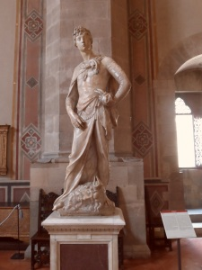 David in marmo di Donatello alias Donato di Niccolò di Betto Bardi ,Museo del Bargello ,Firenze