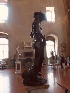 Il David di Donatello alias Donato di Niccolò di Betto Bardi profilo destro