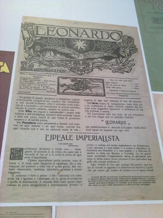 Leonardo rivista artistica italiana del 1903 .  Il frontespizio . (...) nell'Arte amano la trasfigurazione ideale della vita... (...)