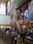 il David di Michelangelo, in versione tatoo. Apprezzabilissimo anche per il luogo in cui è stato posto , il mercato centrale di S. Lorenzo (Fi)