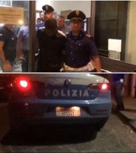 Palagonia, Catania, Sicilia, Italia. L'arresto dell'ivoriano presunto omicida dei due anziani coniugi siciliani .
