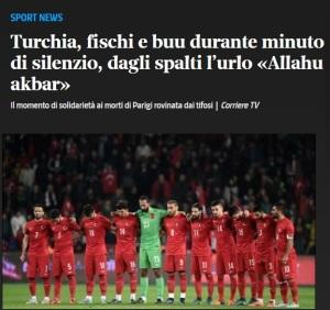 allahu akbar 3 turchia grecia novembre 2015. Per la maggioranza dei turchi i terroristi del novembre 2015 a Parigi ,sono vittime ed eroi!