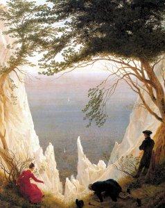 Caspar David Friedrich ; Chalk Cliffs on Rügen. Rügen ; Rügen; die Insel, wo er geboren wurde, Ernst Moritz Arndt