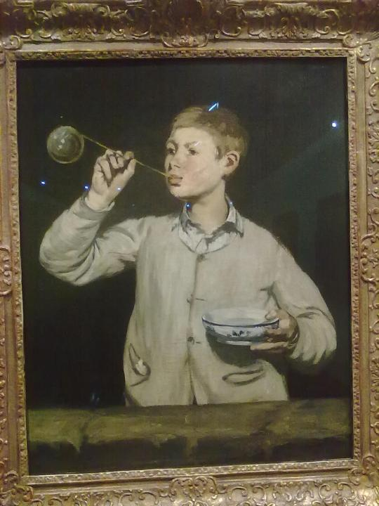 E.  Manet ragazzo che soffia bolle