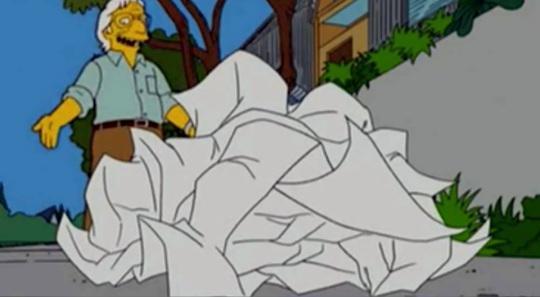 Frank O Gehry; l'omaggio da parte del mondo dei fumetti a questo architetto stralunato come il mondo in cui vive. Si noti che tutti questi 'archistar' non tentano di proporre qualcosa di valido, ma semplicemente si uniformano al sistema. Ecco il perché del loro successo.